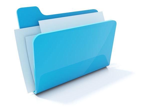Full blue folder icon isolated on white